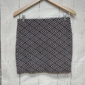 Zara Trafaluc Boho Indie Mini Embroidered Skirt M